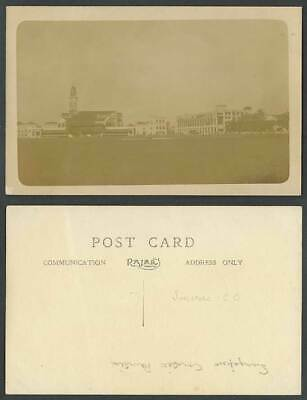 £17.99 • Buy Singapore CRICKET CLUB Clock Tower Pavilion Old Real Photo Postcard Sport Sports