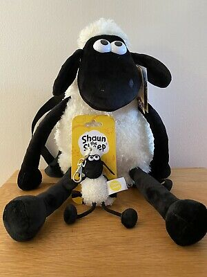 """£17 • Buy Shaun The Sheep BACKPACK 17"""" With FREE Keyring"""