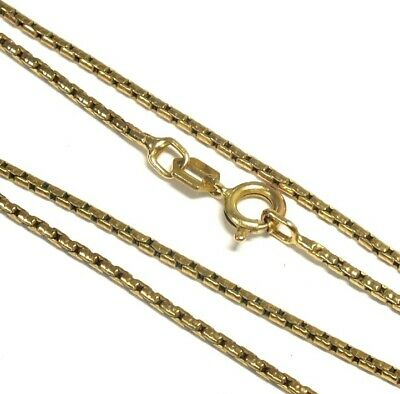 £86.01 • Buy .375 9ct YELLOW GOLD Fancy Box Trace Chain Necklace, 18.2  5.55g - W71