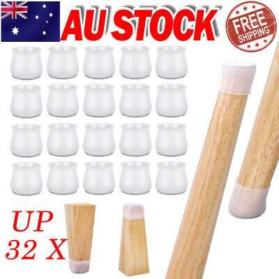 AU9.35 • Buy Silicone Chair Leg Caps Floor Protectors Furniture Table Cover Feet Pads