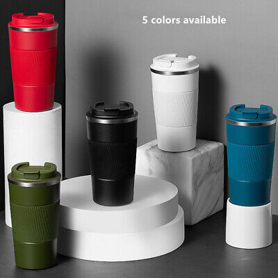 £10.99 • Buy Insulated Coffee Mug Cup Travel Thermal Stainless Steel Flask Vacuum Leakproof