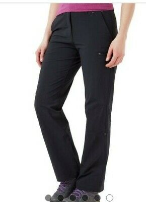 £10.50 • Buy Ladies Peter Storm Roll-up Stretch Black Walking Trousers Size 16L Long New