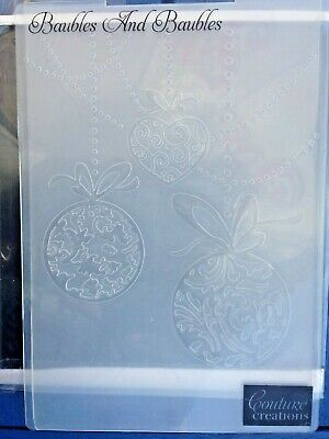 £4.99 • Buy Couture Creations   Baubles & Baubles   5 X 7 Embossing Folder - Vgc - 88p Post