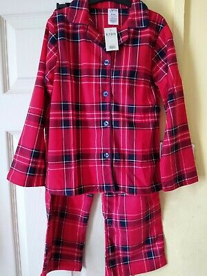 £5 • Buy New Little Girls Red Check Chris As Pyjamas Age 6-7yrs By Peacocks