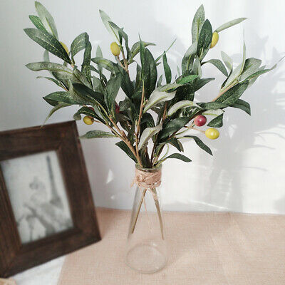 £5.08 • Buy Artificial Fake Olive Leaves Olive Tree Branches Green Leaf Plants Home Deco Pw