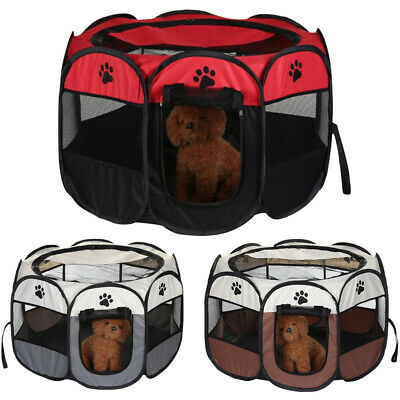 £16.79 • Buy Large New Fabric Foldable Pet Exercise Kennel Soft Dog Run Puppy Playpen Cage UK