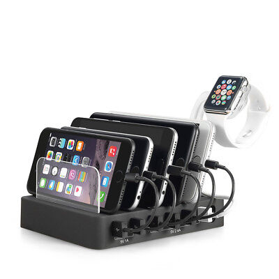 AU40.99 • Buy 6 Multi Port USB Hub Charger Charging Dock Station Stand 60W For Tablet & Phone