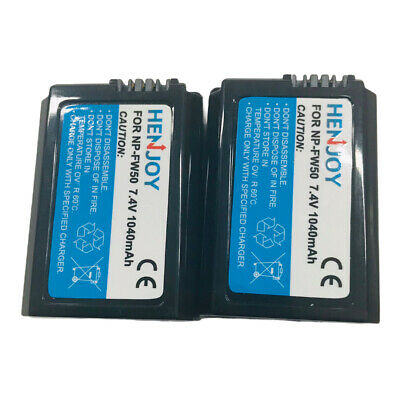 £18.99 • Buy 2-Pack 1130mAh NP-FW50 Battery For Sony Alpha A7- A6500,a6300,a6400,a6000 Camera