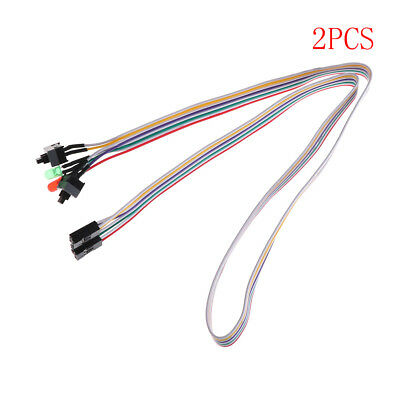 £4.87 • Buy 2pcs 65cm Long Power Button Switch Cable For PC Reset Computer Lx F4PTU Bw
