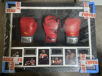 £102 • Buy Larry Holmes, Mike Tyson & Evander Holyfield Triple Signed Boxing Gloves