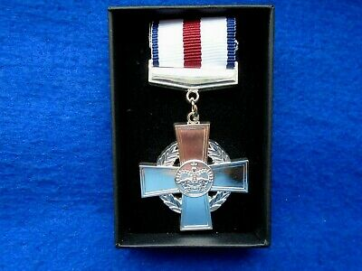 £18 • Buy Erii Cgc, Conspicuous Gallantry Cross Full Size Medal + Presentation Box, Repro