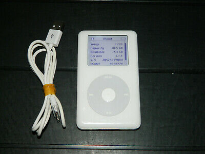 £15 • Buy Apple IPod 4th Generation 20GB A1059 / P9282ZR White WORKING But WEAK BATTERY