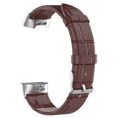 AU12.52 • Buy Watch Band Strap Genuine Leather Watchbands For Fitbit Charge3 Charge4 Brow Y9C4