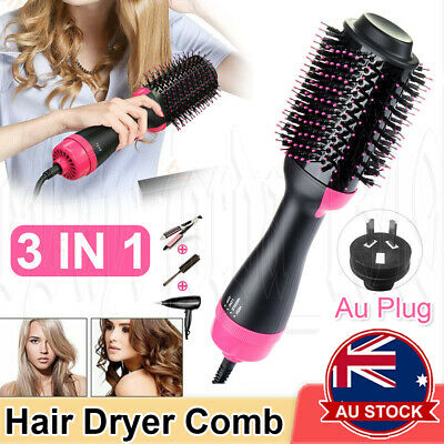 AU29.95 • Buy 3 In 1 Hot Air Style Curler Hair Dryer Styling Roll Hair Brush Comb Hairdryer OZ