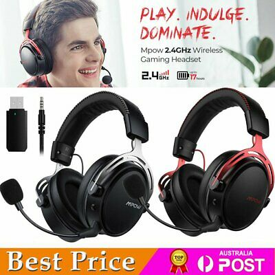 AU73.58 • Buy Mpow Air Wireless Gaming Headset Headphones W/ Flexible Noise Cancelling Mic AU