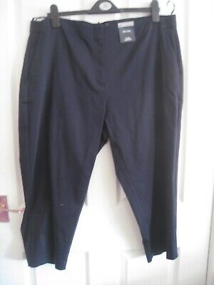 £9.99 • Buy M&s Slim Cropped Trousers Size 20 Bnwt Navy