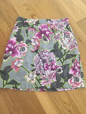 £3 • Buy River Island Grey/pink Floral Skirt Size 8