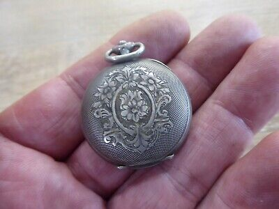 £9.99 • Buy Antique Silver  Fob / Pocket Watch Case  Only