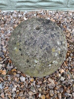 £99 • Buy Weathered Stone Ball/ Sphere 30cm Garden Patio/ Water Fountain Feature.