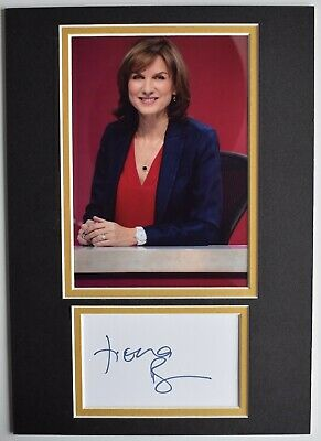 £19.99 • Buy Fiona Bruce Signed Autograph A4 Photo Display TV Antiques Roadshow Question Time