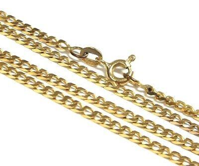 £92 • Buy .375 9ct YELLOW GOLD Flat Curb Chain Necklace, Length - 24  6.00g - H31
