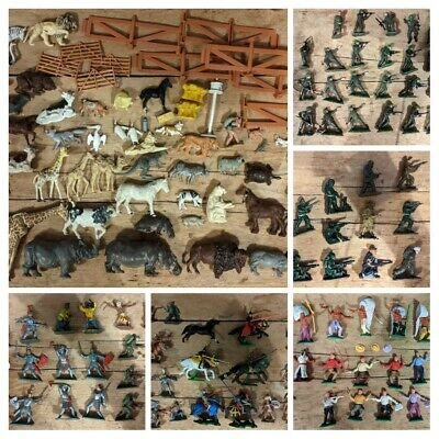 £42 • Buy Britains Timpo Crescent Toys Job Lot Army Soldiers Knights Cowboys Indians Farm