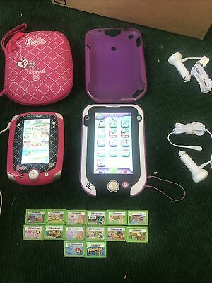 £72.74 • Buy LeapPad Ultra Purple W/14 Games Lot + Leappad 2 Barbie & Case 2 Car Chargers