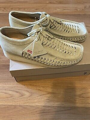 £163.66 • Buy Supreme Clarks Woven Wallabee Shoes Size 12 Tan Brand New