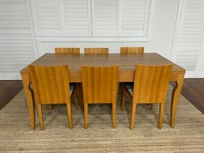 AU400 • Buy Extendable Wooden Dining Table And Six Chairs
