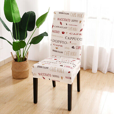 AU5.99 • Buy High Stretch Dining Chair Covers Elastic Seat Slipcovers Wedding Home Decoration