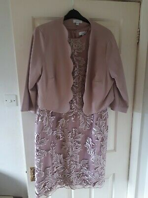 £8.50 • Buy Nightingales Size 20 Blush Pink Dress And Jacket Knee Length Perfect Condition