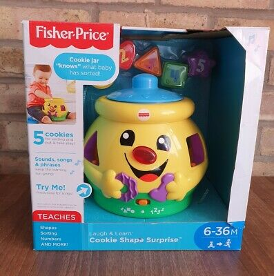 £12.49 • Buy Fisher-Price Laugh Learn Cookie Jar Shape Surprise Music Baby Toys Play Numbers