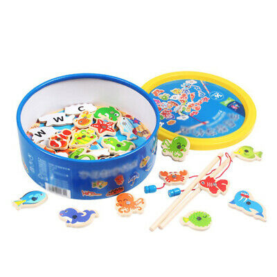 £10.59 • Buy Magnetic Fishing Game Jigsaw Puzzle Board Children Kid Educational Wooden Toy UK