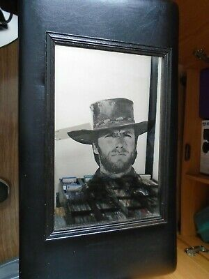 £9.99 • Buy Rare Vintage CLINT EASTWOOD Picture MIRROR. Spaghetti Western / Cowboy