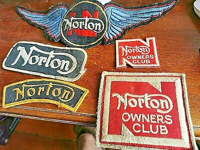 £20 • Buy Selection Of Motorcycle Norton Cloth Badges