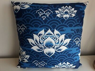 £3.99 • Buy New Cushion Cover Oriental Japanese Chinese Asia Flower Lily Print 45x45cm