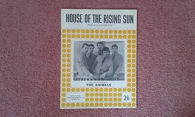 £7.50 • Buy ' HOUSE OF THE RISING SUN  ' - THE ANIMALS  - Sheet Music !!