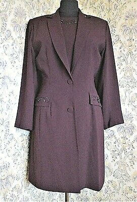 £21.99 • Buy Maroon 2 Piece Suit By VERSE Special Occasion Wedding Coat And Dress Size 12