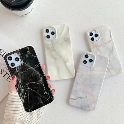 AU12.70 • Buy Phone Case Fashion Marble Soft Cover For IPhone 11 12 13 Pro Max X XR 7 8 Plus