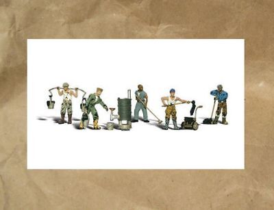 £1.64 • Buy NEW ~ Woodland Scenics TAR WORKERS People Figures ~ Mayhayred Trains N Scale Lot