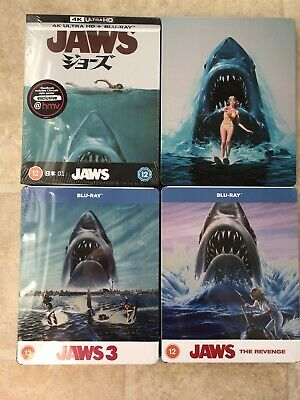 £43 • Buy Jaws 1-4 Exclusive Limited Edition Blu-ray Steelbook Collection New Sealed OOP