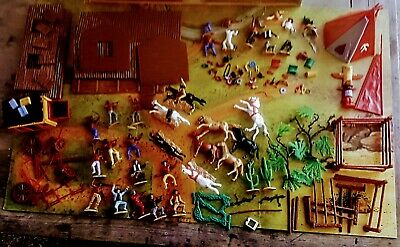 £43.32 • Buy Timpo Frontier Land Cowboys/indians-stage Coach,teepee- Board-misc Pcs Used Good