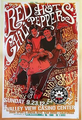 $15.83 • Buy Red Hot Chili Peppers  Valley View Casino-san Diego Concert  Poster From Asia