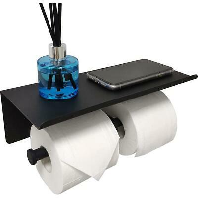 AU32.85 • Buy Bathroom Dual Toilet Paper Holder With Shelf Double Roll Tissue Dispenser H O T