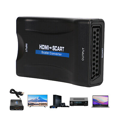 £6.89 • Buy 1080P HDMI To SCART Adapter Video Audio Converter USB Cable DVD TV PS3 SkyBox
