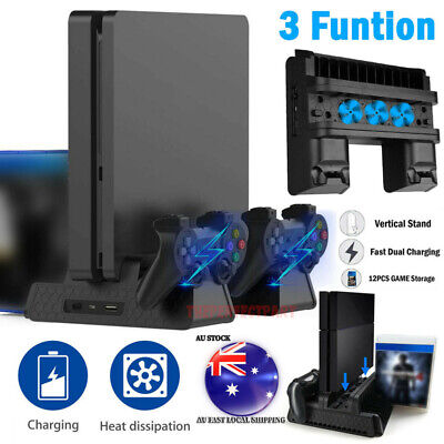 AU43.99 • Buy For PS4/PS4 Slim/PS4 Pro Vertical Cooling Fan Stand Game Mount Charging Station
