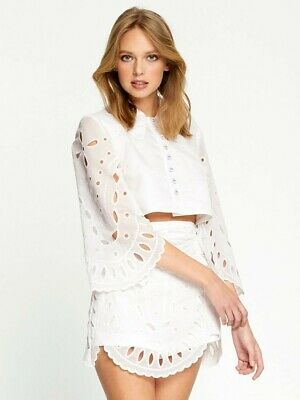 AU79.95 • Buy Alice McCALL Moonchild Blouse Top Ivory White Broderie Lace Size 8 AU / 4 US