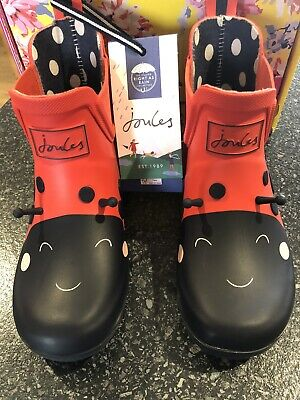 £20.80 • Buy Joules Girls Size 12 Red Ladybird Wellibob Wellies NEW/BOXED 🐞❤️🐞❤️🐞❤️