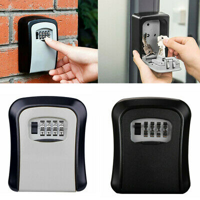 £10.98 • Buy Key Safe Box 4 Digit Wall Mounted Outdoor High Security Code Lock-Storage