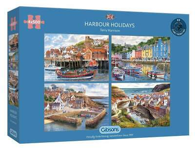 £24.99 • Buy NEW! Gibsons Harbour Holidays By Terry Harrison 4 X 500 Piece Jigsaw Set